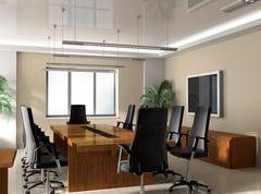 office boardroom - stock illustration