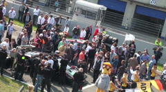 Public viewing before the race at GT Masters Stock Footage