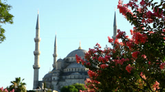 Sultan Ahmet Mosque, Blue Mosque in Istanbul Stock Footage