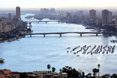 nile river cairo - stock photo