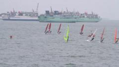 Sail training Stock Footage