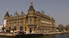 Haydarpasa Train Station in Istanbul Stock Footage