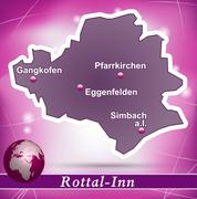 Stock Illustration of map of rottal inn with abstract background in violet