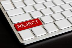 """"""" reject """" button on computer keyboard Stock Photos"""