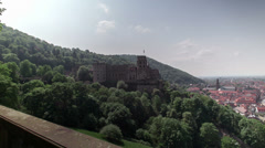 Castle and Old City of Heidelberg Stock Footage