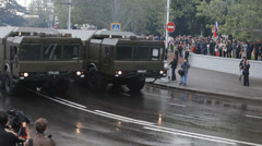 March-parade in Sevastopol on the Victory Day Stock Footage