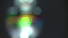 Sparkling, spinning, soft focus coloured lights Stock Footage