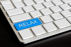 """"""" relax """" button on computer keyboard Stock Photos"""