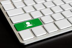 """"""" chat """" button on computer keyboard - stock photo"""