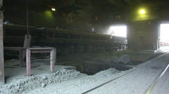 Railway Car pours stones. Unloading of trains. Stock Footage