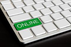 """"""" online """" button on computer keyboard Stock Photos"""