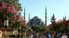 Sultan Ahmed Mosque, Blue Mosque Stock Footage