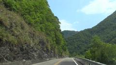 Driving on the mountain road. Taroko National Park Stock Footage