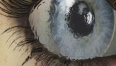 Eye animation Stock Footage