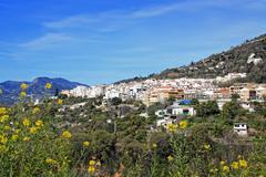 White village in Andalusia, Spain - stock photo