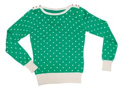 Knitted sweater pattern with polka dots Stock Photos