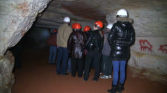 Excursion to the cave Stock Footage