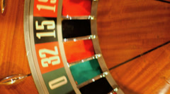Birdseye CU of Roulette Wheel Spinning  - stock footage