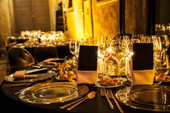 Classic ambient for banqueting Stock Photos