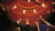 Stock Video Footage of Birdseye Zoom of Players Gambling in the Casino
