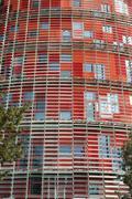 Torre agbar. barcelona landmark, spain. Stock Photos