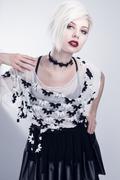 Young woman model Stock Photos