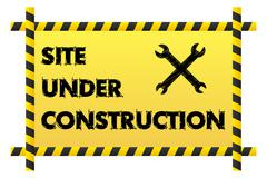 site under construction banner - stock illustration