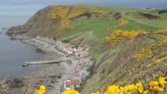 Crovie Village, Scotland Stock Footage