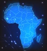 Map of africa Stock Illustration
