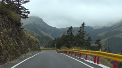 Driving on the mountain road. Stock Footage