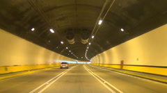 Driving fast in the tunnel time lapse Stock Footage