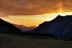 Stock Photo of sunrise in the austrian alps, salzburger land, austria