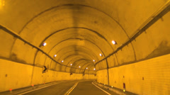 Driving through the tunnel Stock Footage