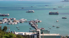 Pattaya city port and Gulf of Siam, Thailand Stock Footage