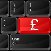 Stock Illustration of computer button british pound