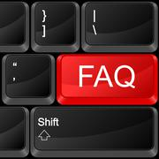 computer button faq - stock illustration