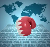 Stock Illustration of bahraini fist
