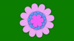 Decorative Paper Flower Stock Footage