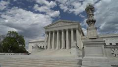 Sunlight flows across Supreme Court steps  Stock Footage