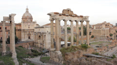 Roman Forum Stock Footage