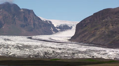 Lower glacier and its valley Stock Footage