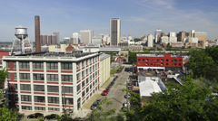 Downtown Richmond, Virginia Timelapse - stock footage