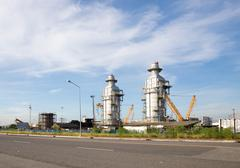 Industrial tube factory Stock Photos