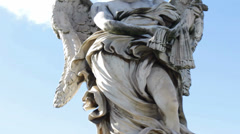 Angel with the Whips on Ponte Sant Angelo Stock Footage