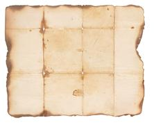 very old paper with burned edges - stock photo