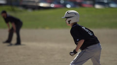Baseball running diamond Stock Footage