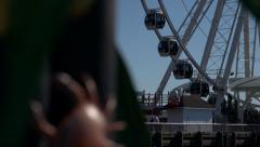 Ferris wheel seattle rack focus Stock Footage