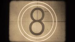 Vintage film countdown Stock Footage