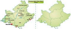 Map of provence-alpes-cote d azur Stock Illustration