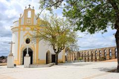 Beautiful quaint church in Elvas Stock Photos